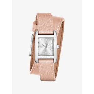 Taylor Silver-Tone and Leather Wrap Watch