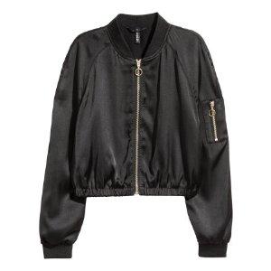 Short Bomber Jacket