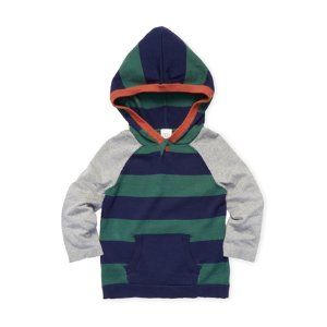 Egg Striped Knit Hoodie