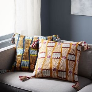 Crewel Knotted Stripe Pillow Cover | west elm