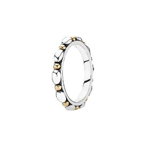 PANDORA Opposites Attract 14K & Silver Ring