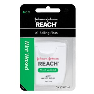 $5.82 Reach Mint Waxed Dental Floss, 55 Yards (Pack of 6)