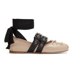 Miu Miu - Pink Patent Ballerina Flats