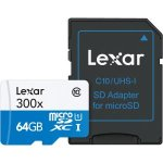 Lexar 64GB High-Performance 300x microSDXC UHS-I Memory Card