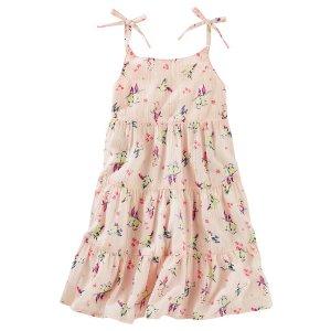 Toddler Girl Tiered Ruffle Hummingbird Print Dress | OshKosh.com