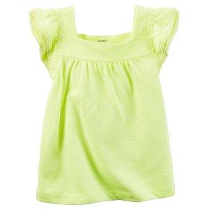 Kid Girl Neon Flutter-Sleeve Tank | Carters.com