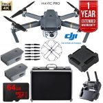 DJI Mavic Pro + Extra Battery, Case, 64GB, Charge Hub + $50 GC