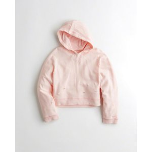 Girls Ripped Boxy Hoodie | Girls New Arrivals | HollisterCo.com