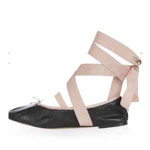 LACE UP Ballerina Shoes