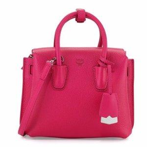 MCM Milla Mini Tote Bag, Beetroot Pink