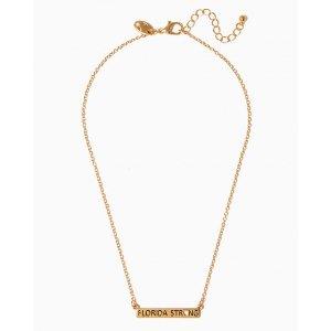 Florida Strong Bar Pendant Necklace