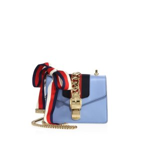 Sylvie Leather Mini Chain Bag by Gucci