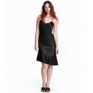 Silk Dress | Black | Women | H&M US