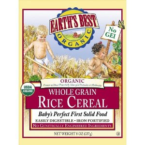 Earth's Best Organic Baby First Solid Food Whole Grain Brown Rice Cereal 8 oz