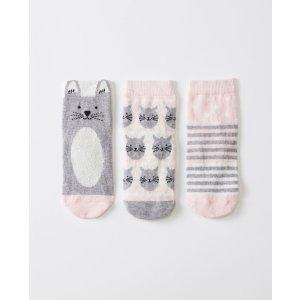 Critters + Hugs Socks 3 Pack