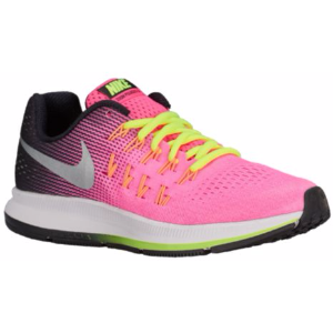 Nike Zoom Pegasus 33 - Girls' Grade School - Running - Shoes - Hyper Pink/Met Silver/Black/Volt/White