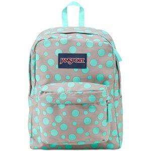 Jansport Superbreak Backpack in Gray Rabbit Sylvia Dot - Backpacks - Luggage & Backpacks - Macy's