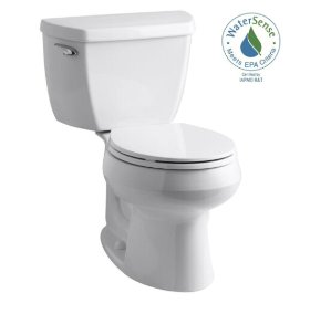 KOHLER Wellworth Classic Complete Solution 2-piece 1.28 GPF Single Flush Round Toilet