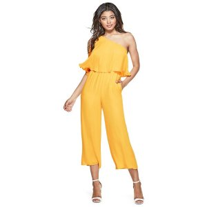 Marino One-Shoulder Jumpsuit | GUESS.com