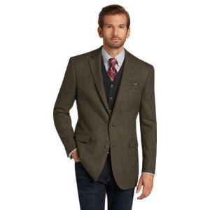 1905 Tailored Fit Plaid Sportcoat - Big & Tall CLEARANCE