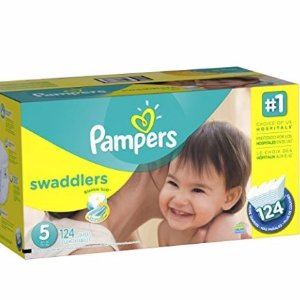 $13.30 Pampers Swaddlers Diapers Size 5, 124 Count