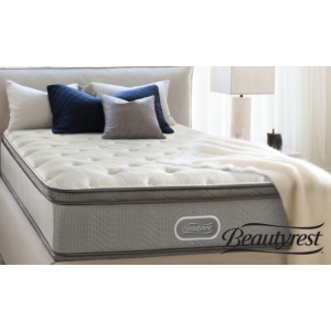 Simmons Beautyrest Plush Pillow Top Mattress Set. Free White Glove Delivery. 10-Yr Limited Warranty.