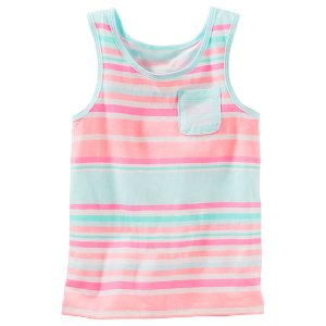 Baby Girl Striped Racerback Tank | OshKosh.com