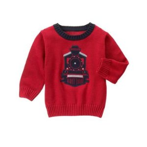 Toddler Boys Caboose Red Train Sweater by Gymboree