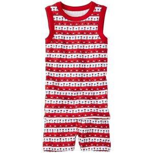 Kids Tank John Pajamas In Organic Cotton | Girls Short Johns