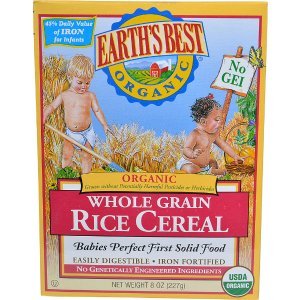 Earth's Best Organic Whole Grain Rice Cereal -- 8 oz - Vitacost