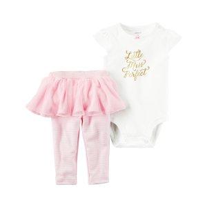 Baby Girl 2-Piece Bodysuit & Tutu Pant Set | Carters.com