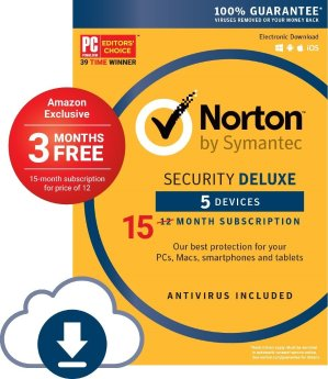 $19.99Norton Security Deluxe - 5 Devices [Download Code]
