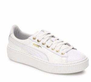 $79.99(原价$110)PUMA 女士休闲小白鞋