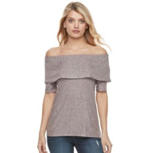 Women's Juicy Couture Marled Off-the-Shoulder Top