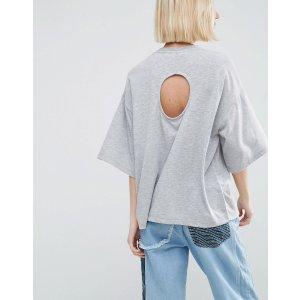 ASOS White | ASOS WHITE Circle Cut Out T-Shirt