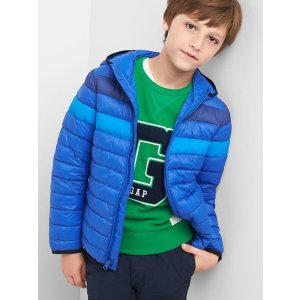 ColdControl Lite colorblock puffer hoodie