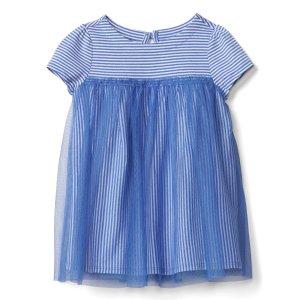 Short sleeve tulle dress | Gap