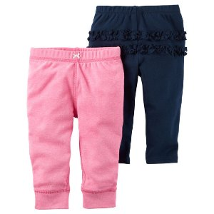 Baby Girl 2-Pack Babysoft Neon Pants | Carters.com