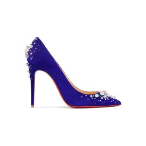 Christian Louboutin Candidate 100 embellished suede pumps
