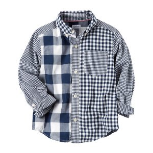 Checkered Button-Front Shirt | Carters.com