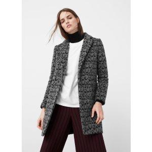 Animal print coat - Women