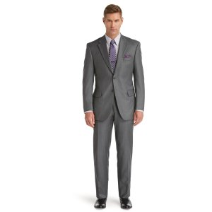 Signature Traditional Fit 2-Button Wool Suit with Plain Front Trousers CLEARANCE - Deal of the Day   Jos A Bank