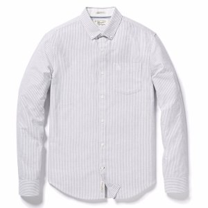 BRUSHED STRIPED OXFORD SHIRT