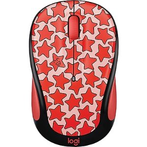 Logitech M325C Wireless Optical Mouse, Ambidextrous, Coral (910-005029) | Staples®