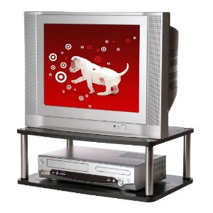 TV/Monitor Double Swivel Stand Black 24