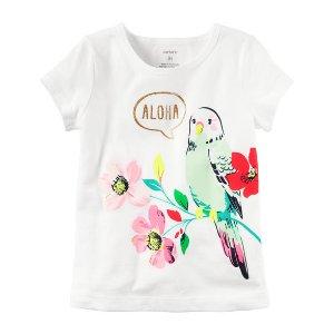 Toddler Girl Aloha Parrot Graphic Tee | Carters.com