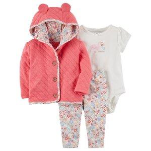 3-Piece Swan Little Jacket Set
