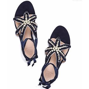 Tory Burch Seashore Flat Sandal : Women's Sandals | Tory Burch