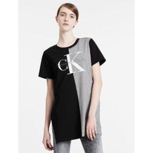 relaxed two-tone logo t-shirt | Calvin Klein