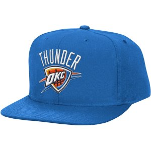 Mitchell & Ness Men's Oklahoma City Thunder Wool Blue Adjustable Snapback Hat